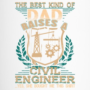 Dad Raises A Civil Engineer T Shirt - Travel Mug
