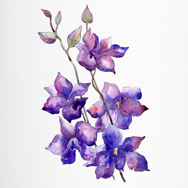 Branch of purple flowers