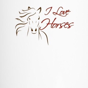 I love Horses - Travel Mug