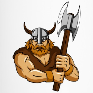 Viking ax helmet horns - Travel Mug