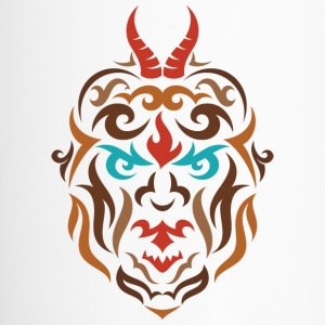 Trojanius horns tribal face design - Travel Mug