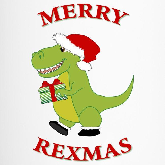 Dinosaur Christmas.Christmas T Rex Dinosaur Travel Mug