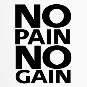 No Pain No Gain logo | Black - Travel Mug