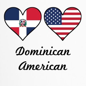 Dominican American Flag Hearts - Travel Mug