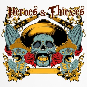 mexican heroes and thieves skull - Travel Mug