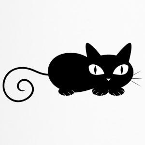black_cat_laying - Travel Mug
