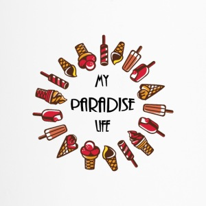 paradise life ice cream - Travel Mug
