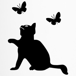 Kitten Playing With Butterflies Icon 2400px - Travel Mug