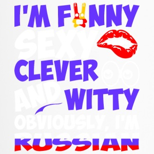 Im Funny Sexy Clever And Witty Im Russian - Travel Mug