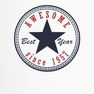 60th Birthday Awesome since T Shirt Made in 1957 - Travel Mug