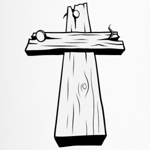 wood_christian_cross_16 - Travel Mug