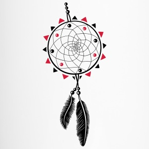 Dreamcatcher with sun and two feathers - Travel Mug