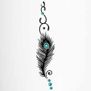 Feather, peacock feather, indian style, jewelry - Travel Mug