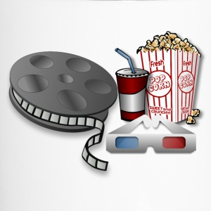 3D Cinema Movie Popcorn - Travel Mug