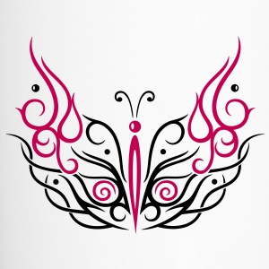 Big filigree butterfly, Tribal and Tattoo style. - Travel Mug