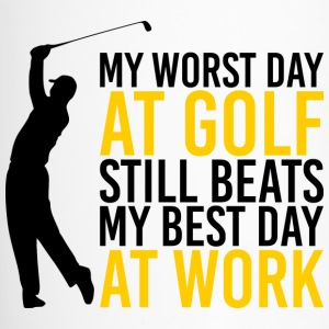 Golf - Worst day at golf beats best day at work - Travel Mug