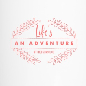 Life's An Adventure #threesonsclub Pink - Travel Mug