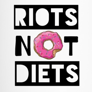 Riots Not Diets (Black) - Travel Mug