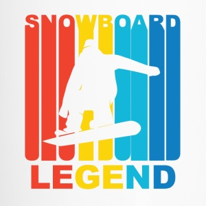 Vintage Snowboard Legend Graphic - Travel Mug