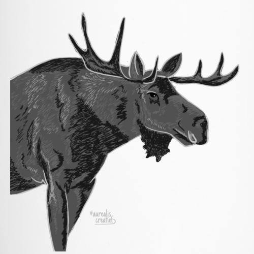An inked moose - Travel Mug with Handle