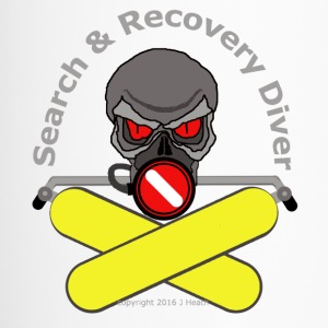 Search And Recovery Diver Yellow Bottles - Travel Mug