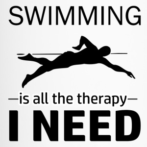 Swimming is my therapy - Travel Mug