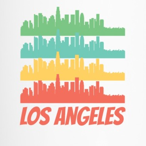 Retro Los Angeles CA Skyline Pop Art - Travel Mug