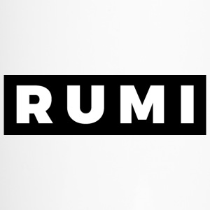 Rumi (White/Black Border) - Travel Mug