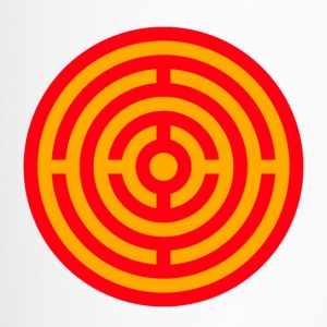 Red and Yellow Target Labyrinth - Travel Mug