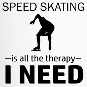 Speed skating is my therapy - Travel Mug