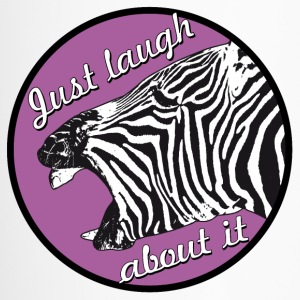 zebra laugh abaout it - Travel Mug