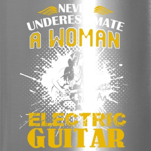Woman With An Electric Guitar Shirt - Travel Mug
