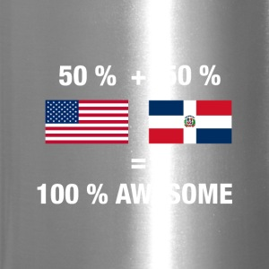 Dominican American Half Dominican Republic Half Am - Travel Mug