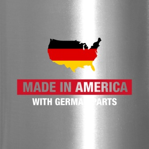 Made In America With German Parts Germany Flag - Travel Mug