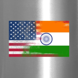 Indian American Half India Half America Flag - Travel Mug