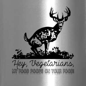 Hey Vegetarians, my food poops on your food! - Travel Mug