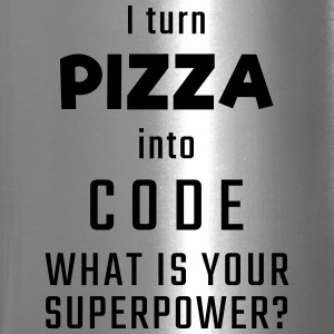 I turn PIZZA into CODE - What is your superpower? - Travel Mug