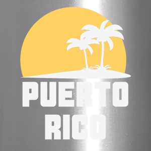 Puerto Rico Sunset Palm Trees Beach - Travel Mug