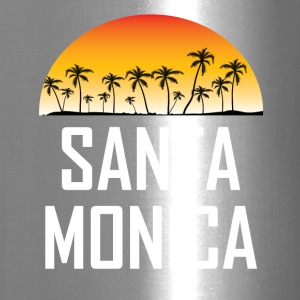 Santa Monica Sunset And Palm Trees Beach Vacation - Travel Mug