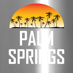 Palm Springs Sunset And Palm Trees Beach - Travel Mug