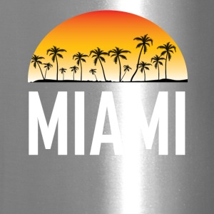 Miami Florida Sunset And Palm Trees Beach - Travel Mug