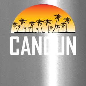 Cancun Mexico Sunset And Palm Trees Beach - Travel Mug