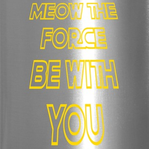 Meow The Force Be With You/ Yellow Outline - Travel Mug