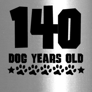 140 Dog Years Old Funny 20th Birthday - Travel Mug
