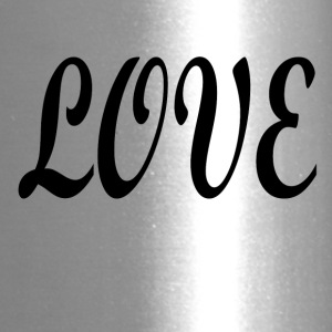 Love black font - Travel Mug