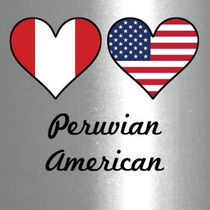 Peruvian American Flag Hearts - Travel Mug