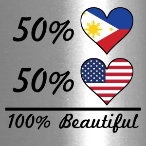 50% Filipino 50% American 100% Beautiful - Travel Mug