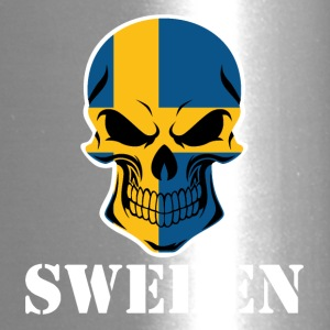 Swedish Flag Skull Sweden - Travel Mug