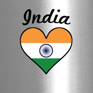 India Flag Heart - Travel Mug