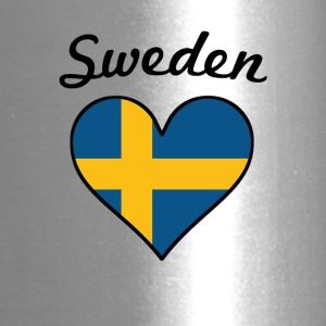 Sweden Flag Heart - Travel Mug